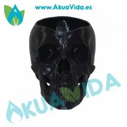 Calavera Negra Macetero PLA Med. Aprox. 14 x 9.5 x 8.5 cm