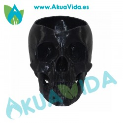 Calavera Negra Macetero PLA Med. Aprox. 10 x 7.5 x 7 cm