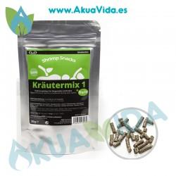 GlasGarten Shrimp Snacks Krautermix 1 + Funcht (Mezcla Hierbas y Frutas) 30 gr