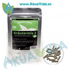 GlasGarten Shrimp Snacks Krautermix 2 + Minze (Mezcla de Hierbas y Menta) 30 Gr