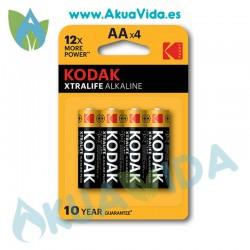 Pilas AA Kodak Pack 4 Unidades 1.5V LR6