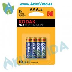 Pilas AAA Kodak Pack 4 Unidades 1.5V LR03